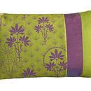 Organic Patchwork Cushion Lime
