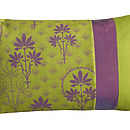 Organic Patchwork Cushion Lime
