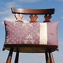 Organic Patchwork Cushion Violet