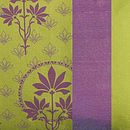 Violet Print on Lime and Violet Silk