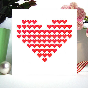Screen Printed Heart Card