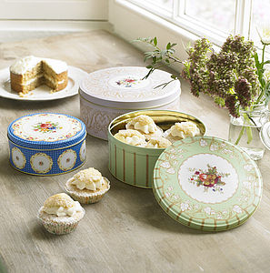 Set Of Three Vintage Style Cake Tins - gifts for the home