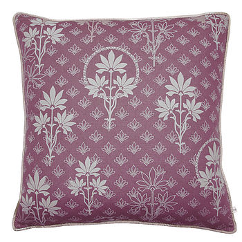 Organic Printed Cushion Cover Violet