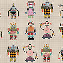 Robot Wrapping Paper Two Sheets