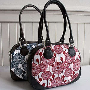 Poppy Canvas And Leather Handbag - bags & purses