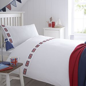 Union Jack Flag Organic Bedding Collection