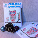Pack Of Ten Owl Christmas Cards