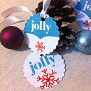 Pack Of Eight Jolly Jolly Gift Tags