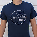 Men's Personalised Pie Chart T Shirt