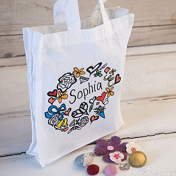 Girl's Personalised Tote Gift Bag