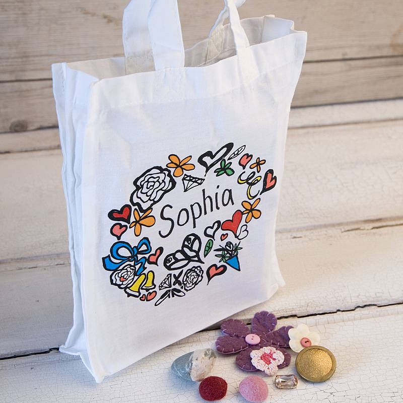 girl's personalised tote gift bag by solographic art ...
