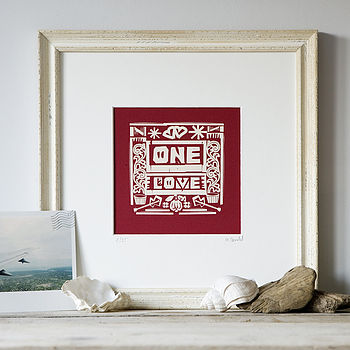 'One Love' Silk Screen Art Print