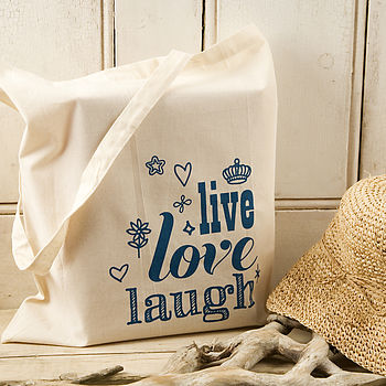 'Live, Love, Laugh' Tote Bag