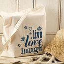 'Live, Love, Laugh' Tote Bag