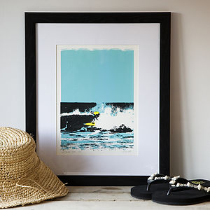 Longsands Surf Screen Print