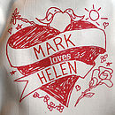 Personalised 'Loves' Printed Bag