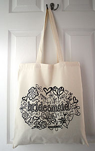 'Bridesmaid' Tote Bag - hen party gifts & styling