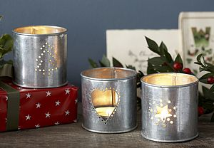 Star Or Tree Votive - lights & candles