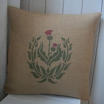 ' Rustic Scottish Thistle ' Cushion