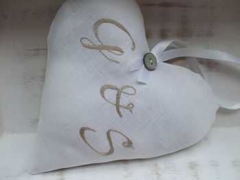 Personalised Double Monogrammed Heart