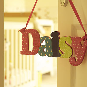 Personalised Hand Painted Name Sign - children's room