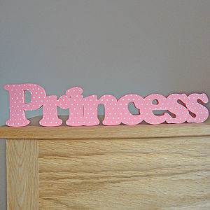 'Princess' Hand Painted Freestanding Sign - children's decorative accessories