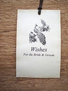 Wedding Wishing Tree Tags With Peacock