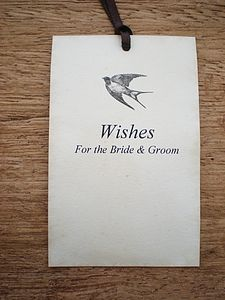 Wedding Wishing Tree Tags With Swallow