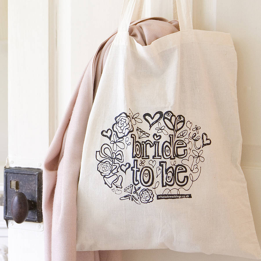 'bride To Be' Tote Bag By Solographic Art