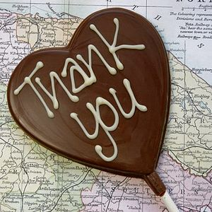 'Thank You' Handmade Chocolate Lolly - wedding favours