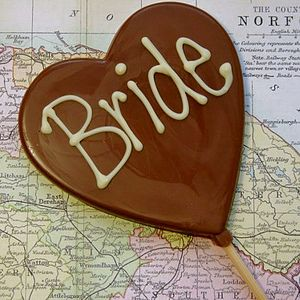 'Bride' Handmade Chocolate Lolly - hen party styling