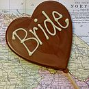 'Bride' Handmade Chocolate Lolly
