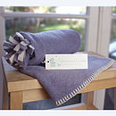 lavender blue newborn hooded wrap