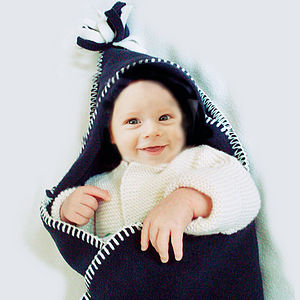 Hooded Baby Shawl/Blanket In Fleece - baby care