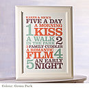Personalised 'Five A Day' Print: green park