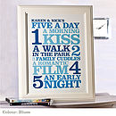 Personalised 'Five A Day' Print: blues