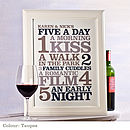 Personalised 'Five A Day' Print: taupes