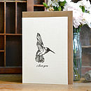 'I Love You' Hummingbird Card