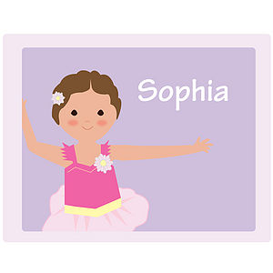 Personalised Ballerina Placemat - baby care