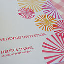 Carnival Personalised Wedding Stationery