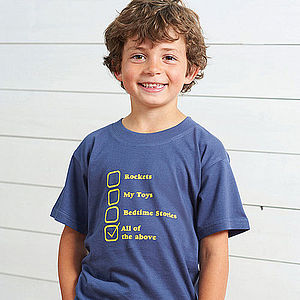 Personalised Child's Fav Things T Shirt - best gifts for boys