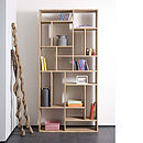 Solid Oak Bookcase M1 Tall