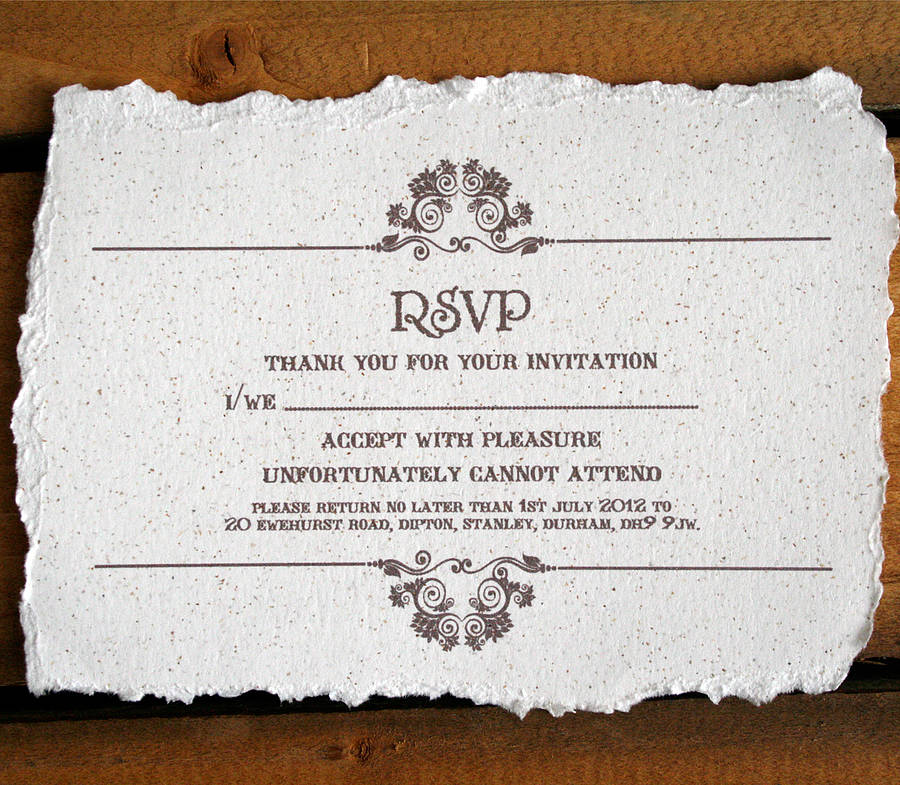 Vintage Style Wedding Invitation By Solographic Art