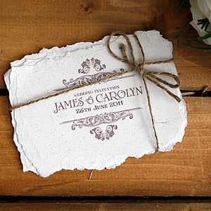 Vintage Style Wedding Invitation - invitations