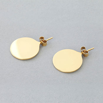 'Little' Gold Earrings 10mm Diameter