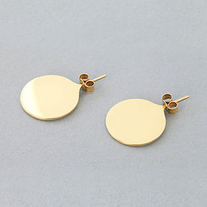 Straight Up Gold Or Silver Earrings