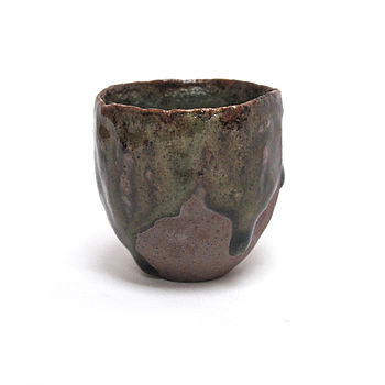 Hand Moulded Sake Cup Green