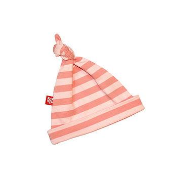 Pink Stripe Baby Hat