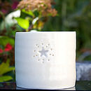 Porcelain Starburst Tea Light