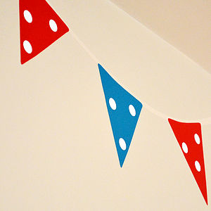 Bunting Wall Stickers - wall stickers